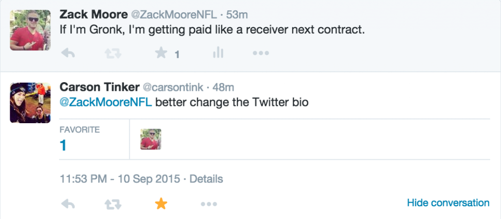Carson Tinker Gronk